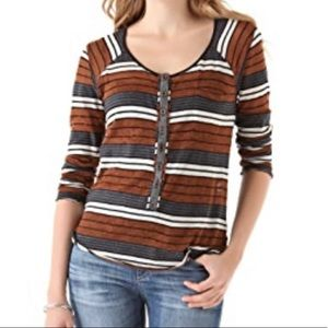 Free People Old School Striped Henley